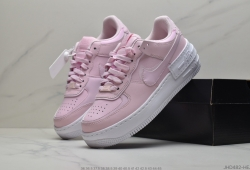 公司级耐克Nike Air Force 1 Shadow 白粉配色莆田鞋