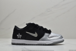 "公司级Supreme x Nike SB Dunk Low""Metallic Silver"" 运动休闲滑板莆田鞋"