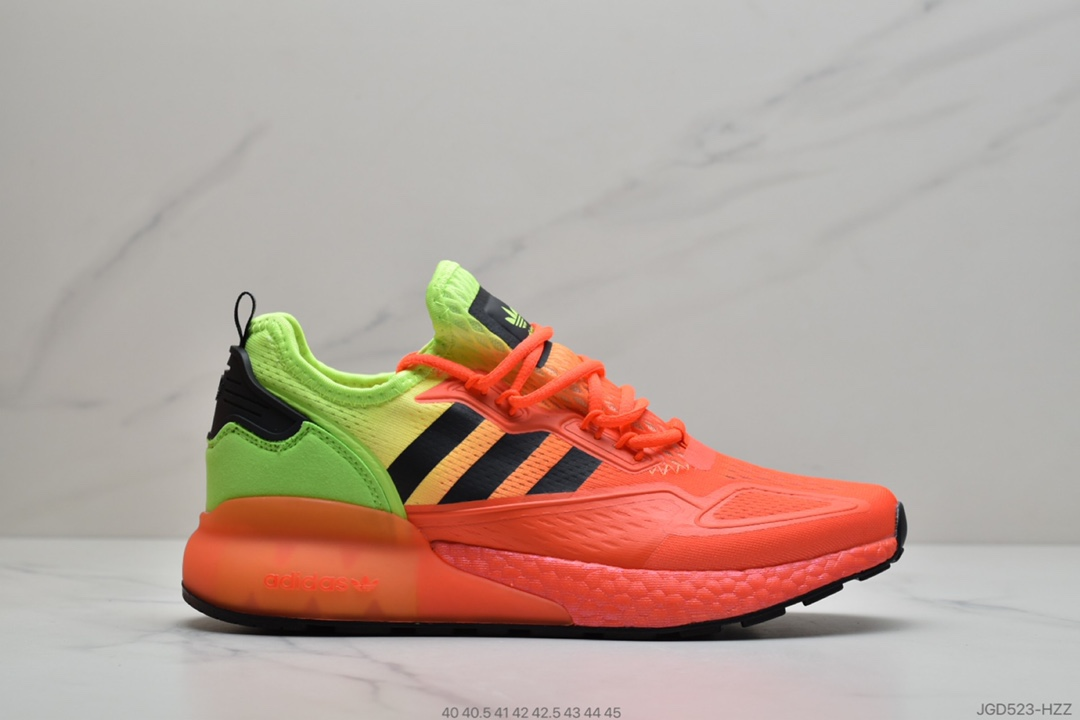 ​阿迪达斯Adidas Originals ZX 2K Boost 易烊千玺同款全新爆米花莆田鞋