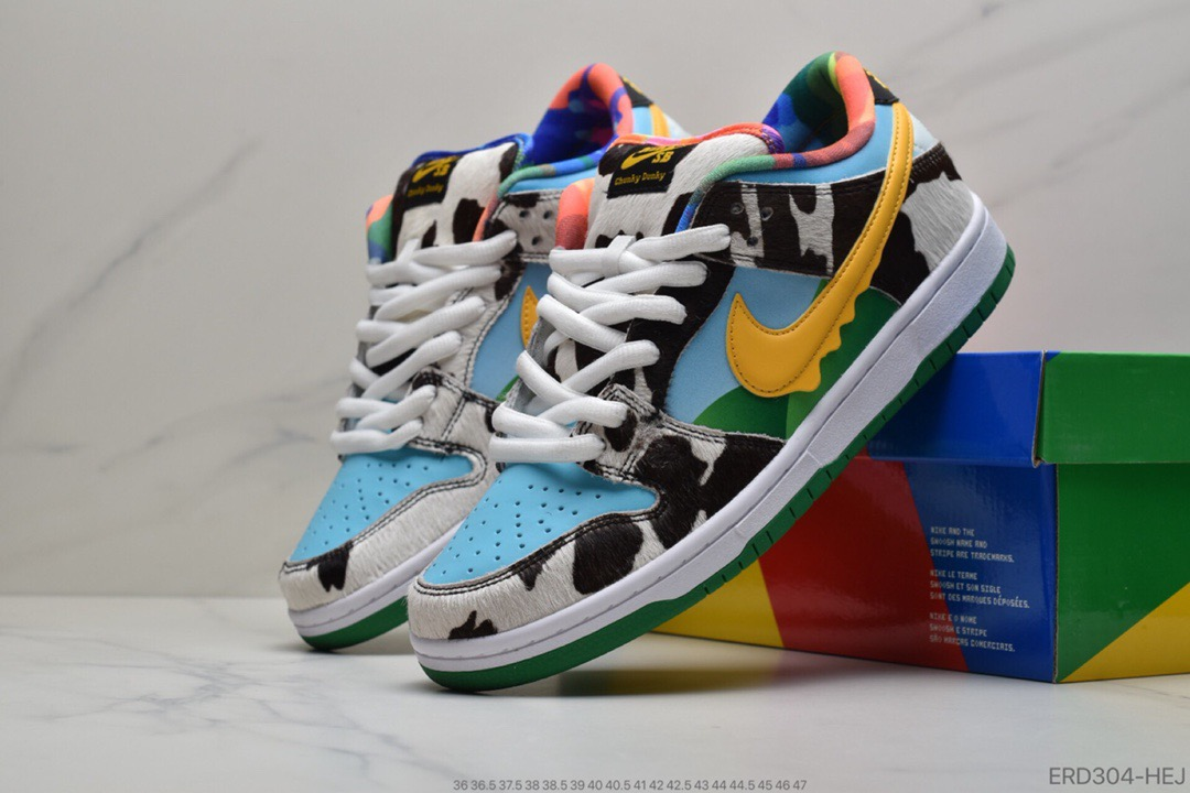 公司级Ben & Jerry's x SB Dunk Low 牛奶‮淇冰‬淋配色莆田鞋