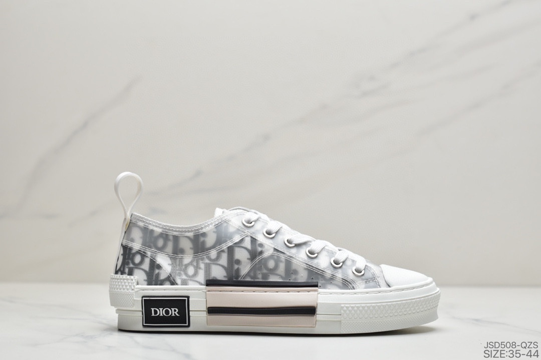 高奢品牌迪奥Dior B23 Oblique High Top Sneakers透明印花高筒球鞋